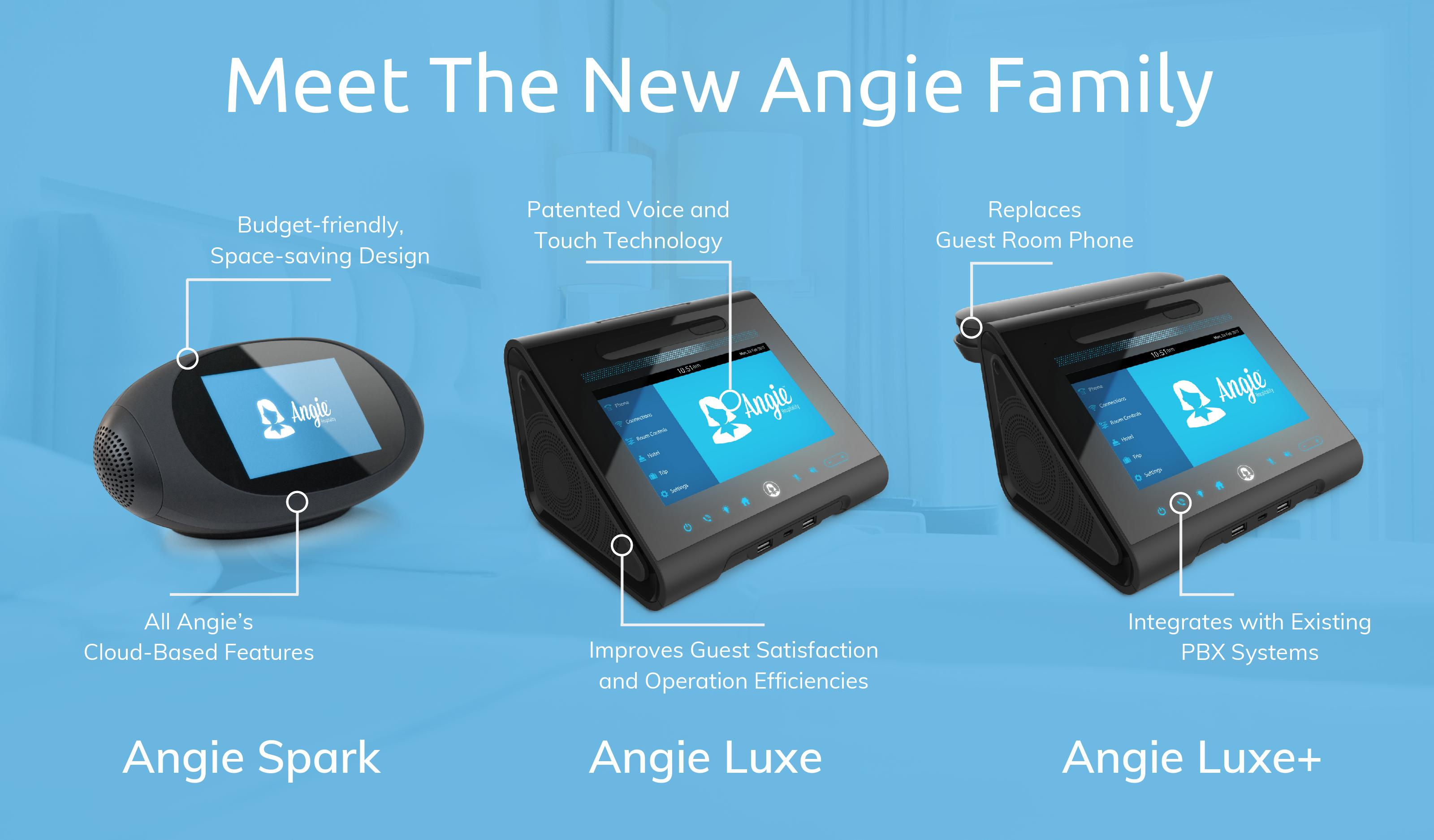 Angie Hospitality to Unveil Expanded Line of Hospitality - focused Virtual Guest - room Assistants at HITEC 2019