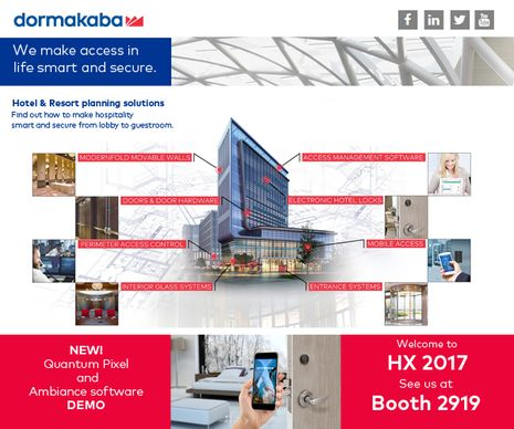 dormakaba Delivers 'Smart Design Access' at HX With Quantum® Pixel and Ambiance Solutions