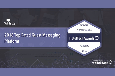 Whistle Named Top Rated Guest Messaging Platform