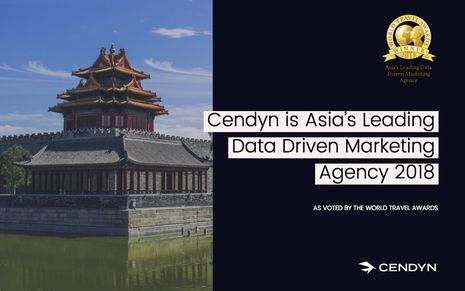 Cendyn is Asia's Leading Data Driven Marketing Agency 2018 as voted by prestigious World Travel Awards