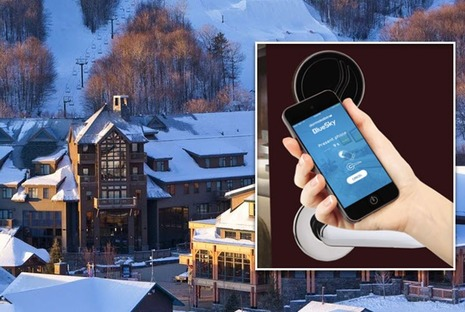 It's Black Diamond Time at The Lodge at Spruce Peak with dormakaba BLE Enabled RFID Electronic Locks