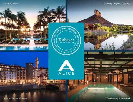 Forbes Travel Guide Chooses ALICE as Their Official Staff Operations Technology for 2019