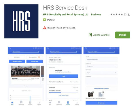Global Launch of the HRS Service Desk Mobile Application
