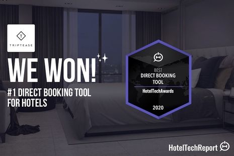 Triptease wins 'Best Direct Booking Tools' at the Hotel Tech Awards 2020