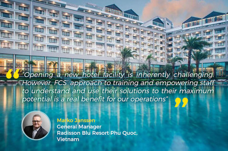 Radisson Blu Resort Phu Quoc establishes smooth operations with FCS e-solutions