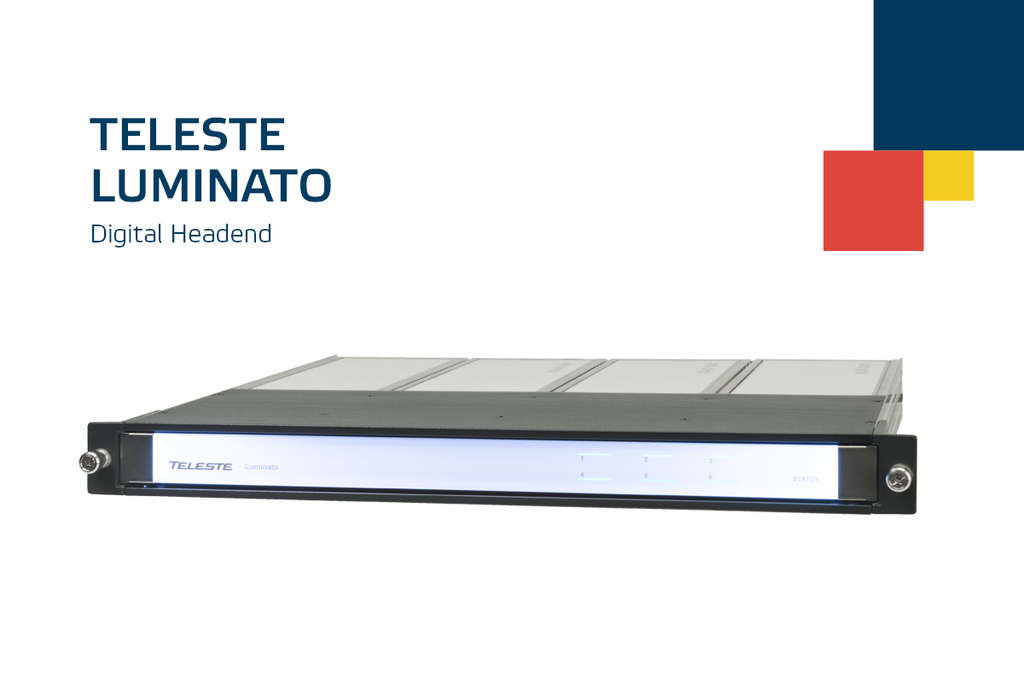 Teleste Luminato: Simple and solid headend for TV channels